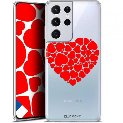 "Carcasa Gel Extra Fina Samsung Galaxy S21 Ultra (6.8"") Love Coeur des Coeurs"