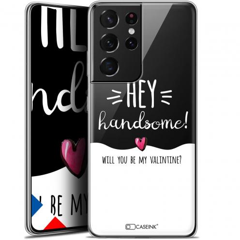 "Carcasa Gel Extra Fina Samsung Galaxy S21 Ultra (6.8"") Love Hey Handsome !"