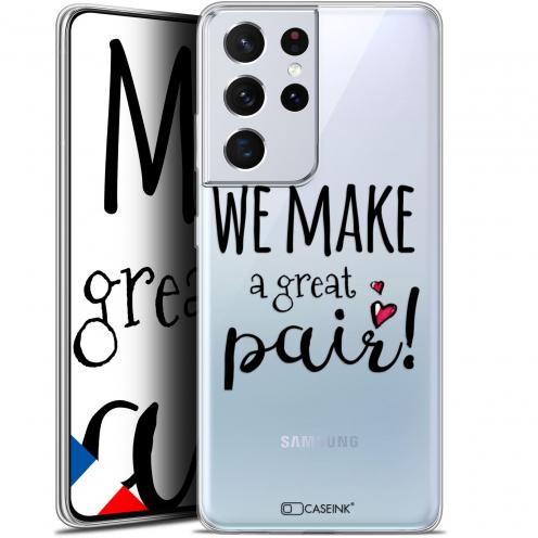 "Carcasa Gel Extra Fina Samsung Galaxy S21 Ultra (6.8"") Love We Make Great Pair"