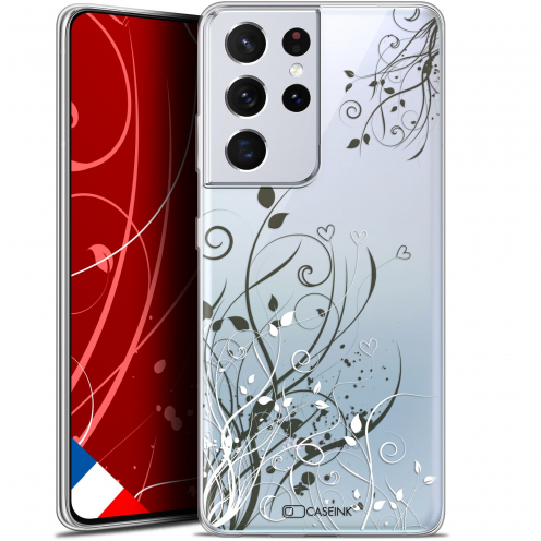 "Carcasa Gel Extra Fina Samsung Galaxy S21 Ultra (6.8"") Love Hearts Flowers"