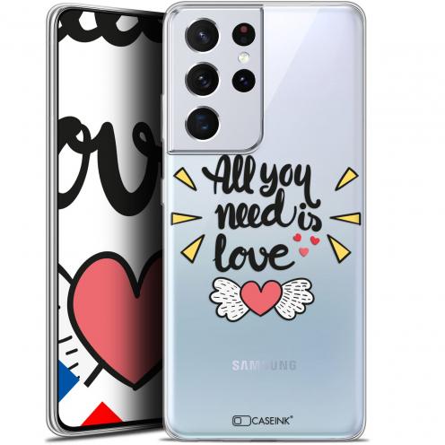 "Carcasa Gel Extra Fina Samsung Galaxy S21 Ultra (6.8"") Love All U Need Is"