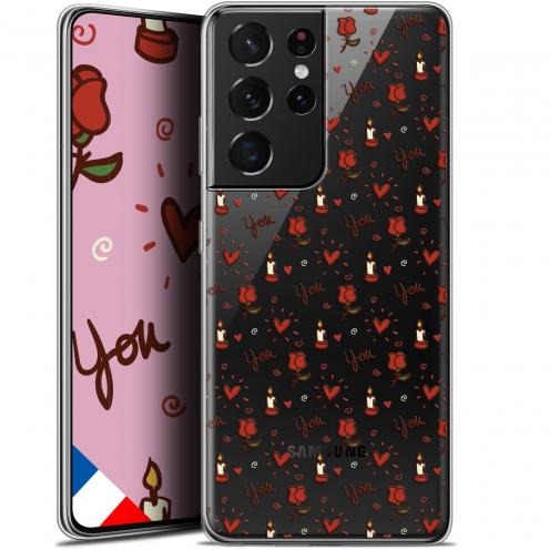 "Carcasa Gel Extra Fina Samsung Galaxy S21 Ultra (6.8"") Love Bougies et Roses"