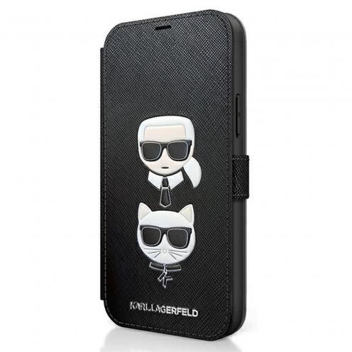 Carcasa Karl Lagerfeld® KLFLBKP12SSAKICKCBK iPhone 12 mini Noir