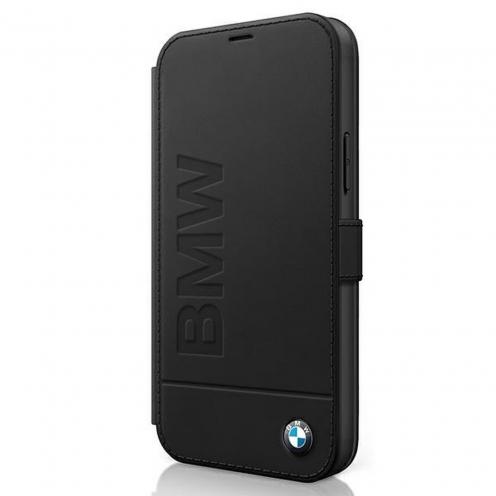 Carcasa BMW® BMFLBKP12SSLLBK iPhone 12 mini Noir