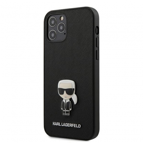 Carcasa Karl Lagerfeld® KLHCP12MIKMSBK iPhone 12 / 12 PRO Noir