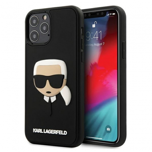 Carcasa Karl Lagerfeld® KLHCP12LKH3DBK iPhone 12 PRO MAX Noir