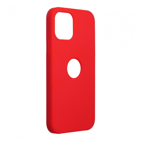 Forcell Silicone Carcasa Para iPhone 12 / 12 PRO Rouge (Avec Trou)