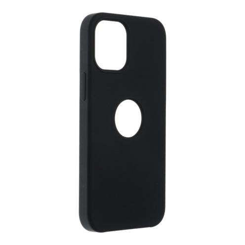 Forcell Silicone Carcasa Para iPhone 12 MINI Noir (Avec Trou)