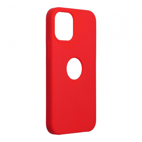 Forcell Silicone Carcasa Para iPhone 12 MINI Rouge (Avec Trou)