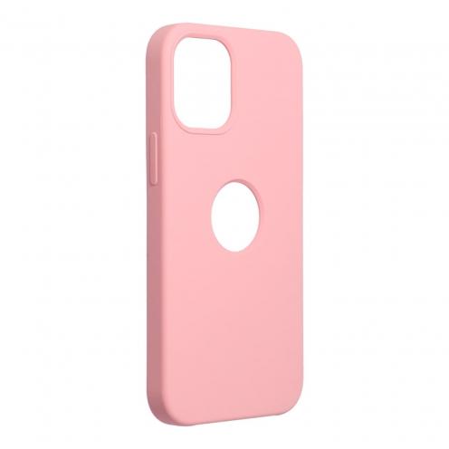 Forcell Silicone Carcasa Para iPhone 12 MINI Rose (Avec Trou)