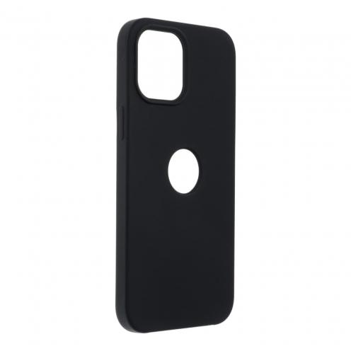 Forcell Silicone Carcasa Para iPhone 12 PRO MAX Noir (Avec Trou)