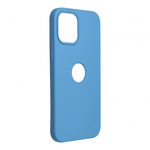 Forcell Silicone Carcasa Para iPhone 12 PRO MAX Bleu Marine (Avec Trou)