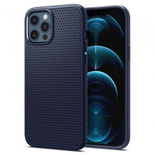 Carcasa Spigen® Liquid air Para iPhone 12 PRO MAX Bleu Marine