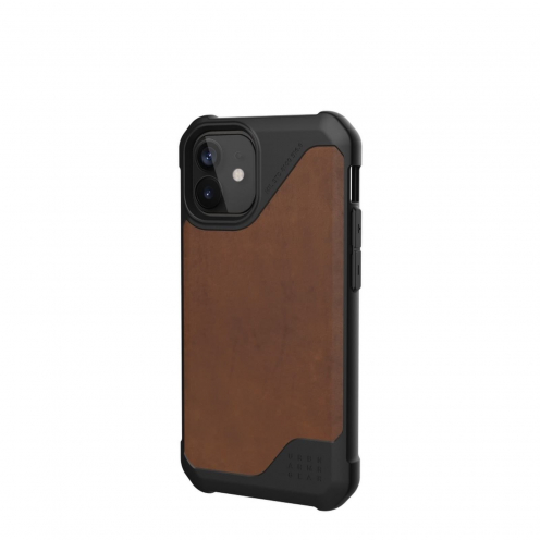 Carcasa Antichoc Urban Armor Gear® UAG Metropolis LT (Cuir) Para iPhone 12 MINI Marron