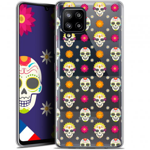 "Carcasa Gel Extra Fina Samsung Galaxy A42 5G (6.6"") Halloween Skull Halloween"
