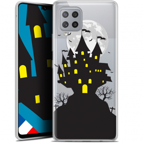 "Carcasa Gel Extra Fina Samsung Galaxy A42 5G (6.6"") Halloween Castle Scream"