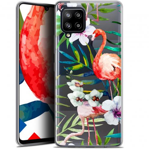 "Carcasa Gel Extra Fina Samsung Galaxy A42 5G (6.6"") Watercolor Tropical Flamingo"