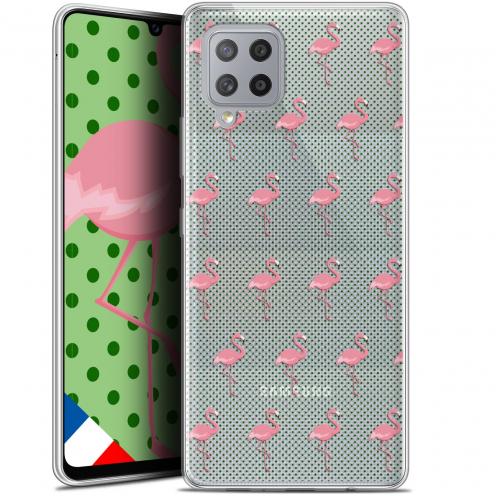 """Carcasa Gel Extra Fina Samsung Galaxy A42 5G (6.6"""") Pattern Les flamants Roses Dots"""