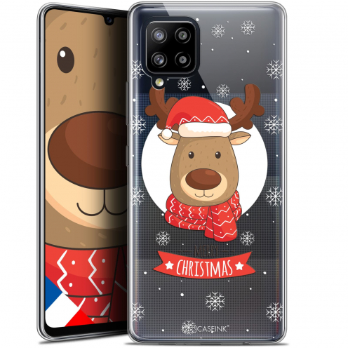 "Carcasa Gel Extra Fina Samsung Galaxy A42 5G (6.6"") Noël 2017 Cerf à Echarpe"
