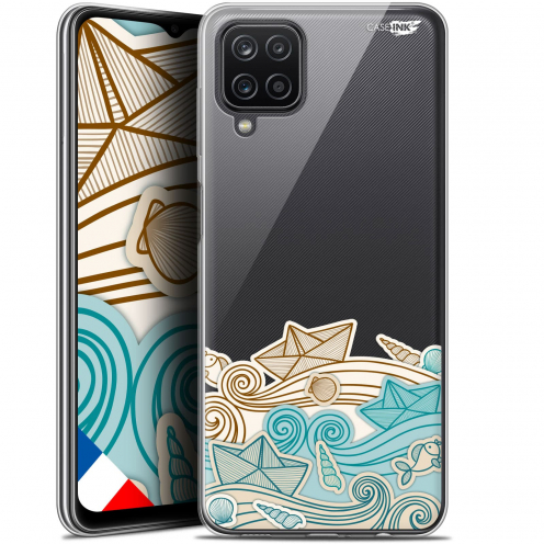 "Carcasa Gel Extra Fina Samsung Galaxy A12 (6.5"") Design Bateau de Papier"