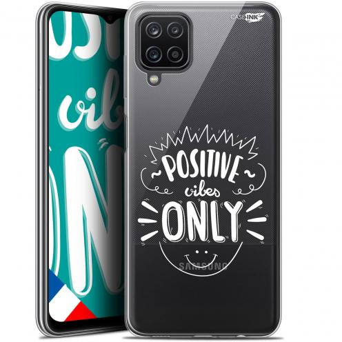 "Carcasa Gel Extra Fina Samsung Galaxy A12 (6.5"") Design Positive Vibes Only"