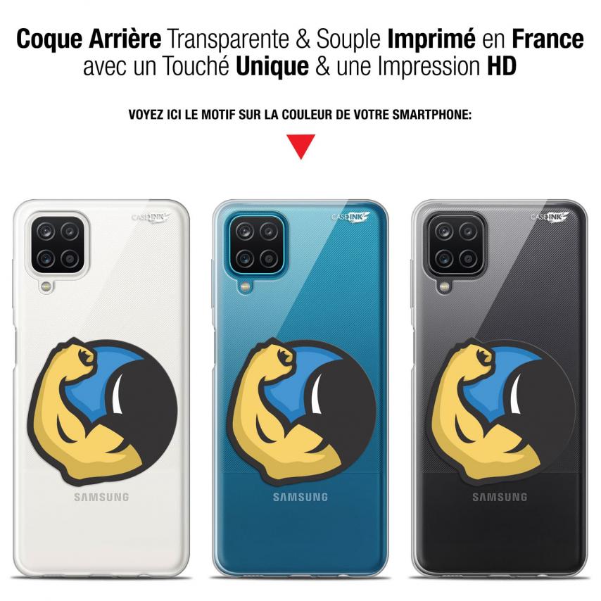 "Carcasa Gel Extra Fina Samsung Galaxy A12 (6.5"") Design Monsieur Muscle"