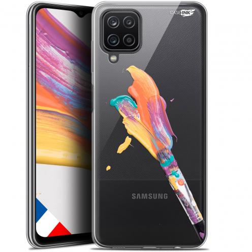 "Carcasa Gel Extra Fina Samsung Galaxy A12 (6.5"") Design Pinceau de Peinture"
