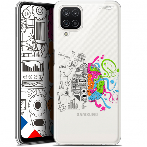 "Carcasa Gel Extra Fina Samsung Galaxy A12 (6.5"") Design Le Cerveau"