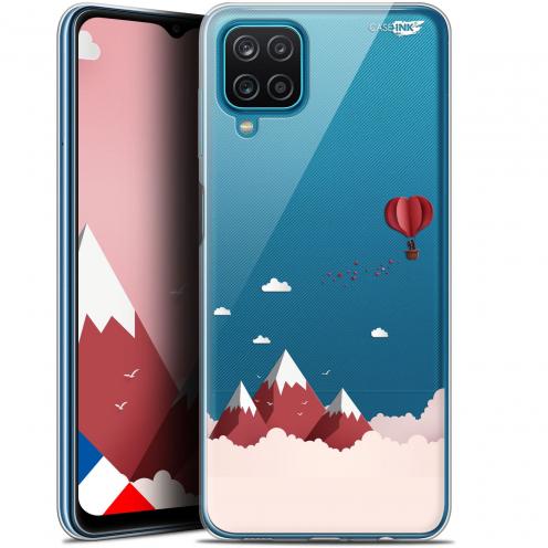 "Carcasa Gel Extra Fina Samsung Galaxy A12 (6.5"") Design Montagne En Montgolfière"