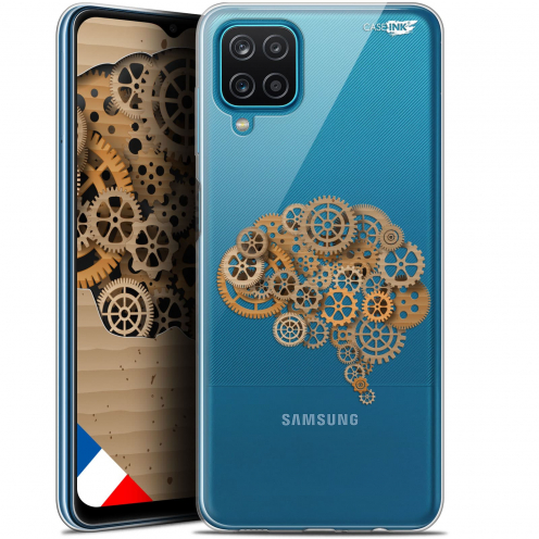 "Carcasa Gel Extra Fina Samsung Galaxy A12 (6.5"") Design Mécanismes du Cerveau"