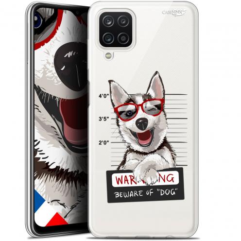 "Carcasa Gel Extra Fina Samsung Galaxy A12 (6.5"") Design Beware The Husky Dog"