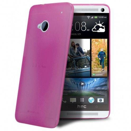 Carcasa Ultra Fina 0.3 mm Frost HTC One Rosa