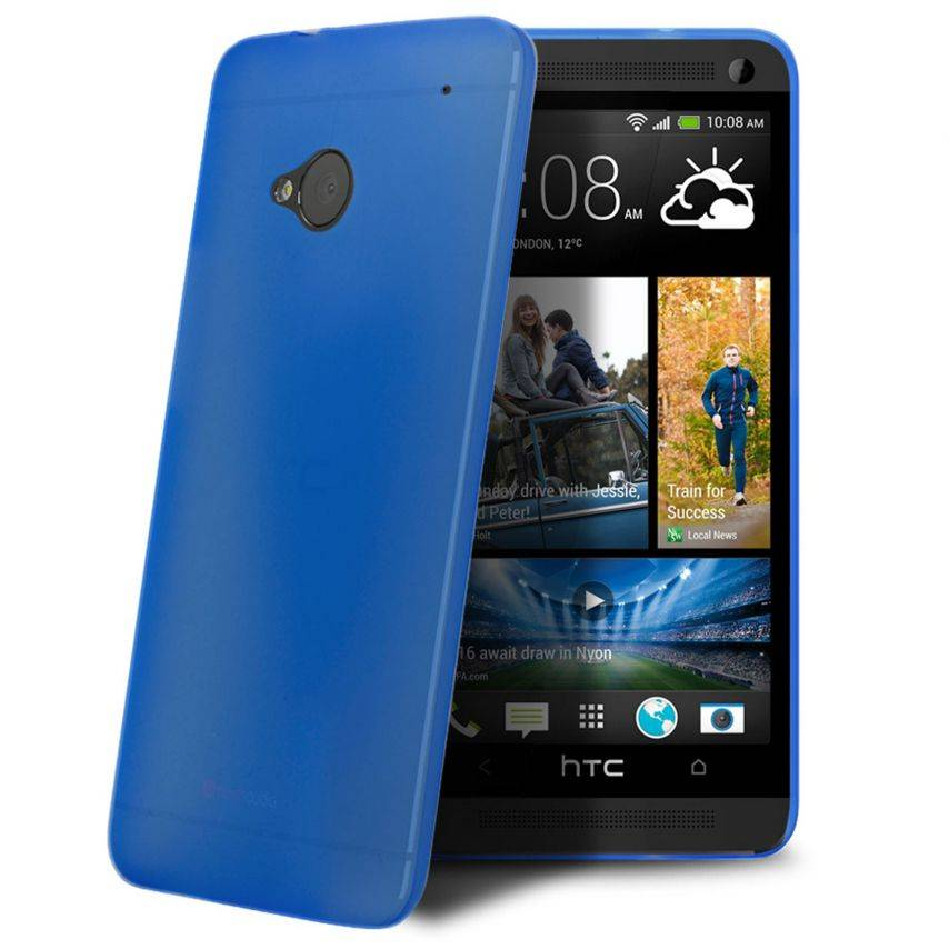 Coque Ultra Fine 0.3mm Frost HTC One Bleue