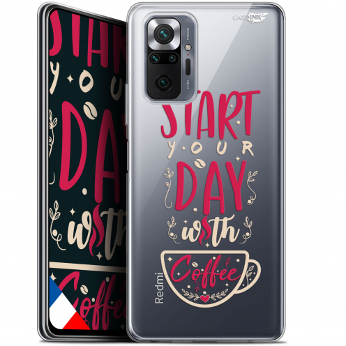 "Carcasa Gel Extra Fina Xiaomi Redmi Note 10 PRO (6.7"") Design Start With Coffee"