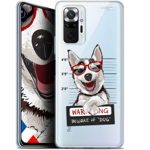 "Carcasa Gel Extra Fina Xiaomi Redmi Note 10 PRO (6.7"") Design Beware The Husky Dog"