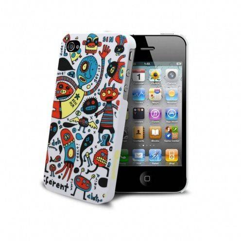 "Casco Muvit ® Doodle ""monstruos"" iPhone 4S/4"