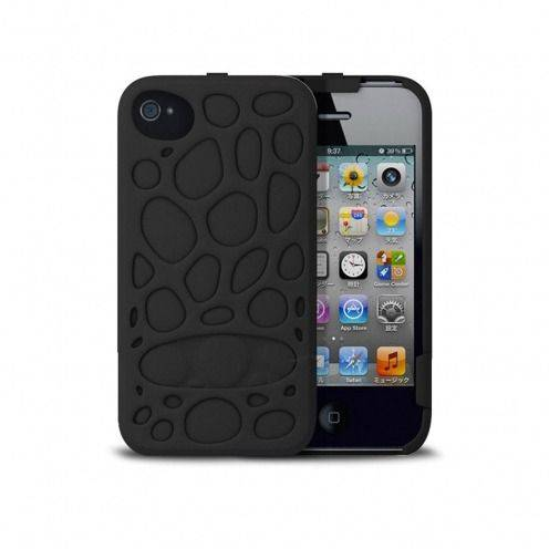Casco Freshfiber® Peeble Double Cap iPhone 4S/4 Negro