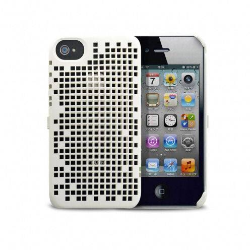 Casco Freshfiber® Peeble Double Mesh iPhone 4S/4 Blanco