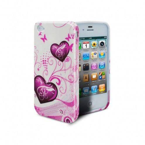 Caso IPhone 4/4S corazones abstracción rosa