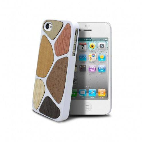 Caso Bagheera Patchwork Blanco para iPhone 4/4s