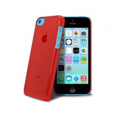 "Casco ""Crystal"" para iPhone 5C Rojo"