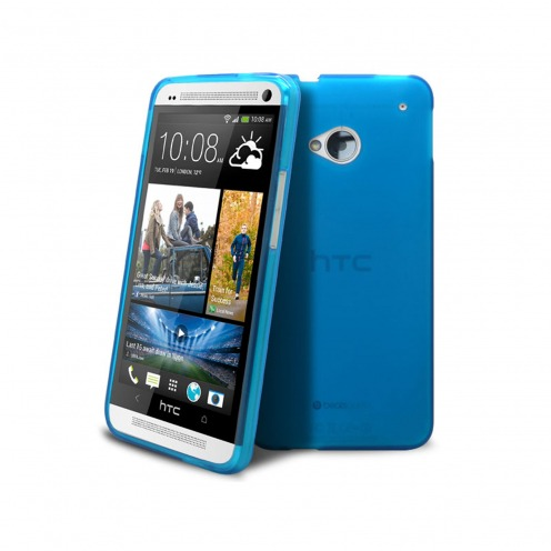 Carcasa HTC One Frozen Ice Extra Fina Azul