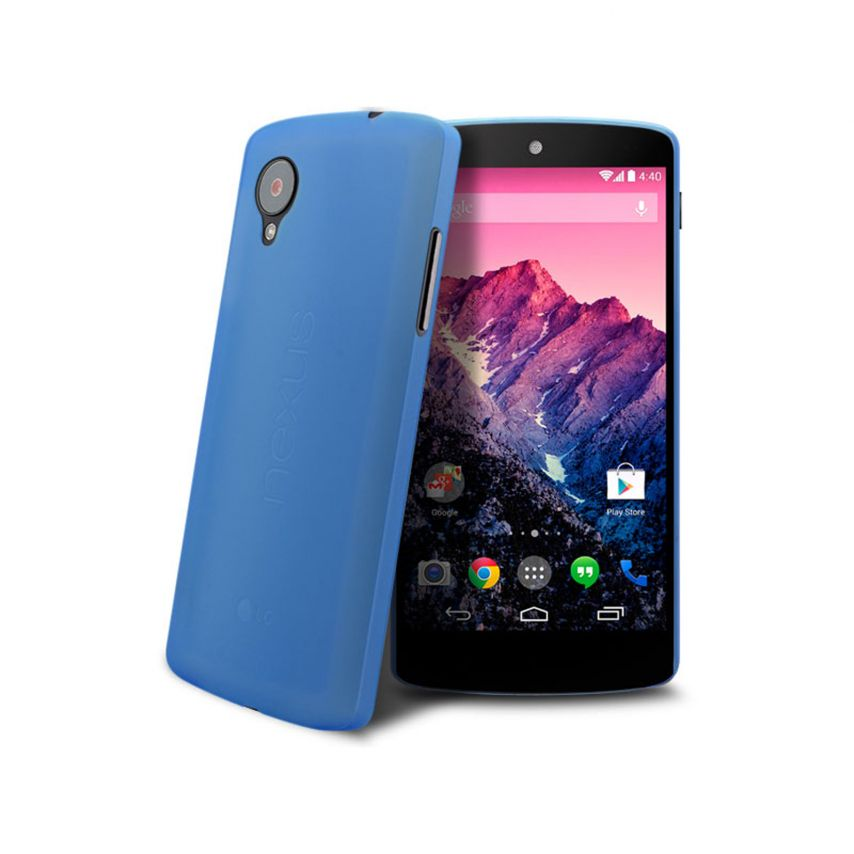 Funda Ultra fino 0.3mm Frost Google Nexus 5 azul
