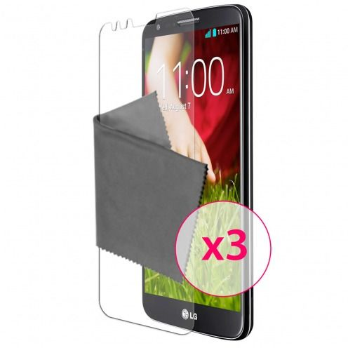 Clubcase ® protección anti películas huellas dactilares LG G2 juego de 3