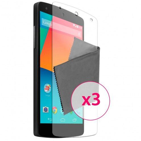 Películas de protección antideslumbrante LG Nexus 5 ® Clubcase set de 3