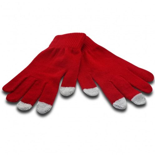 iTouch - guantes táctil iPhone especial rojo Talla S