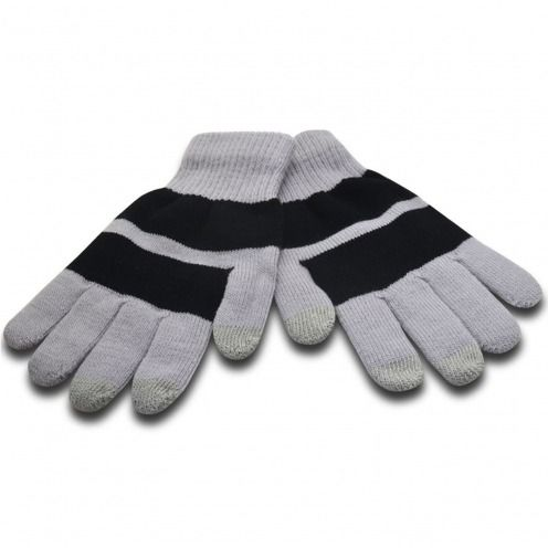 iTouch - guantes táctiles iPhone especial gris y negro - Talla S