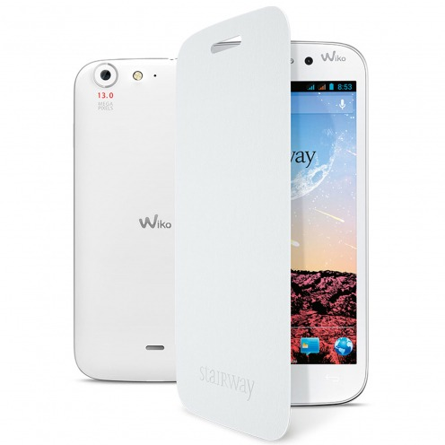 Folio Back Cover oficial Cubierta Wiko Stairway Blanco