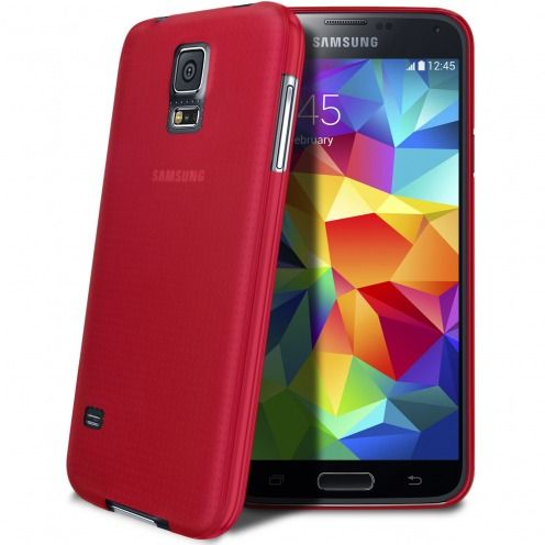 Funda Ultra fino 0.3mm Frost Samsung Galaxy S5 rojo