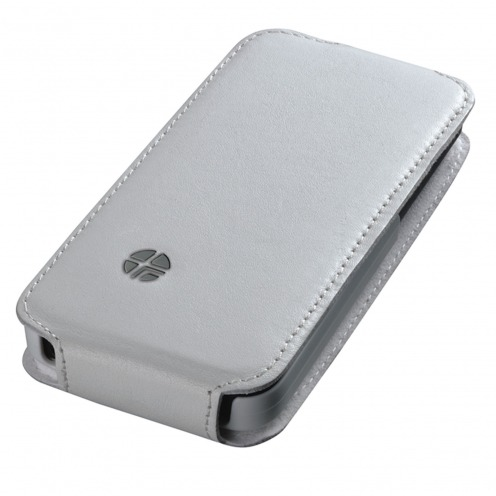 8a0502e8134 Funda cuero verdadero con tapa giratoria Trexta ® Flippo Blanco iPhone 5 /  5S. Vista rápida